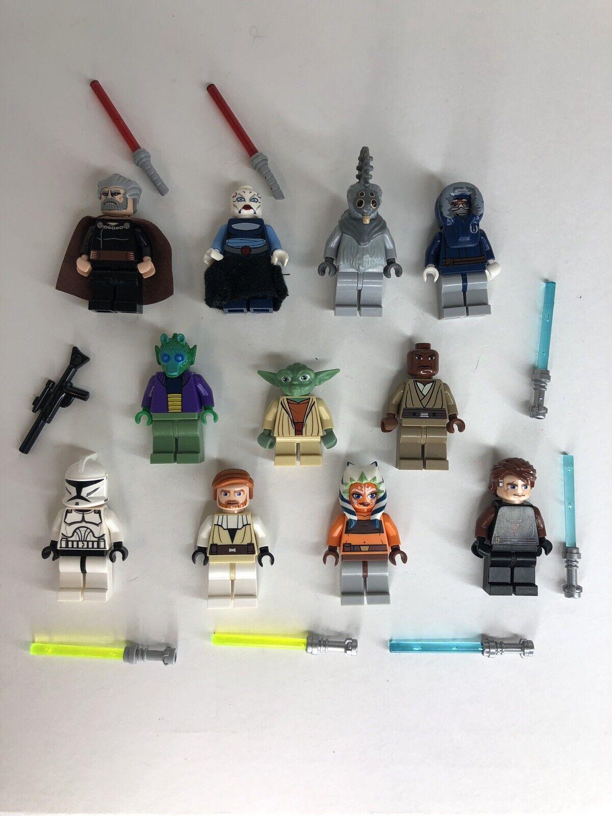 Lego Star Wars Lot 11 Minifigures Windu Count Dooku Asaj Ventress Clone Wars  N9