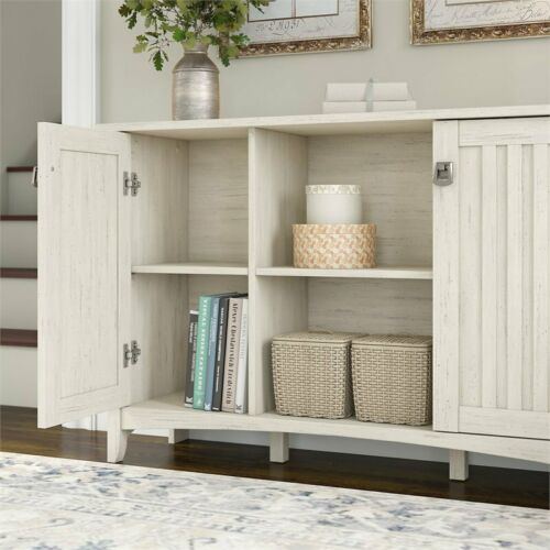 Bush Furniture Salinas Accent Storage Cabinet with Doors in White