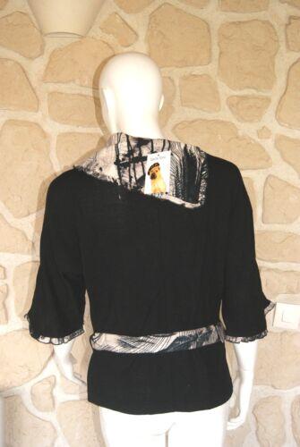 90 Marque Neuf Taille 40 Haut Noir Étiqueté Libre 99 Figure À 6vTwZAIxq