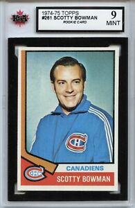 1974-75-Topps-261-Scotty-Bowman-Coach-RC-Graded-9-0-Mint-100519-59