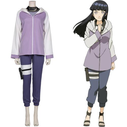 Details about  /NARUTO0 Hyūga Hinata Cosplay Costume Jacket Pants Halloween Outffit