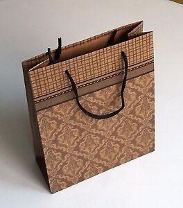 Handmade Kraft Paper Gift Bags With Handles Ebay