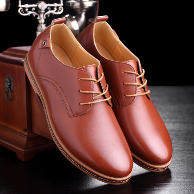 Men's oxfords Leather Shoes Pointed toe Light  European style Casual Comfort