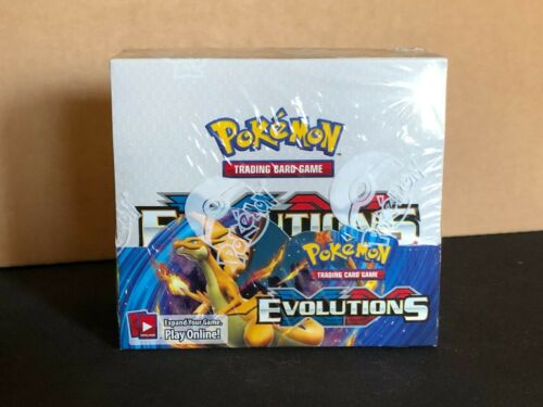Pokemon Evolutions XY Factory Sealed Unopened Booster Box 36 Packs of 10 Cards