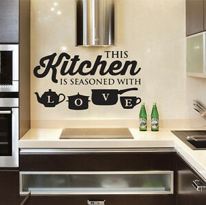 Image Is Loading Kitchen Pot Cup Love Wall Stickers Art Dining