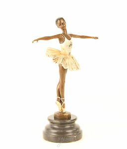 Bronzo-Giocatore-Ballerina-multi-colorata-Stile-liberty-Grunderzeit