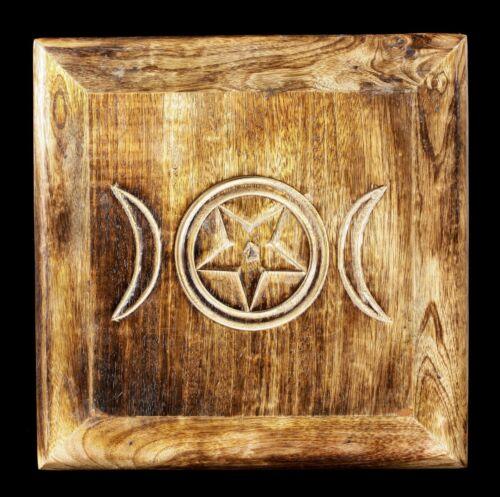 Wiccan Table autel avec triple moonFantasy Occulte Sorcière colorée 30,5x30,5 cm