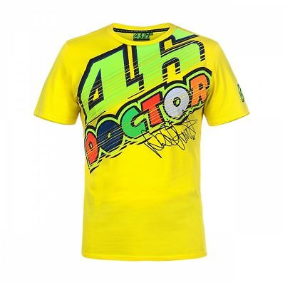 """VALENTINO ROSSI VR46 /""""THE DOCTOR/"""" GREY T-SHIRT VR4-16TSH-GY"""