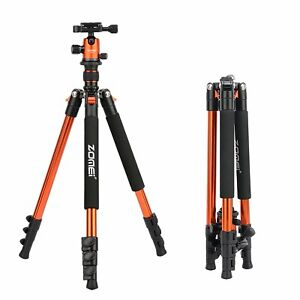 ZOMEI Q555 63'' Professional Aluminium Tripod&Ball Head Portable for DSLR Camera
