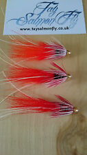 "3x Franc N Snaelda Junction Shrimp 1/4"" Conehead Tube Salmon Fishing Flies"