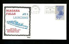 US Naval Ship Cover USS Niagara Falls AFS-3 Vietnam War 3/26/1966 Launching
