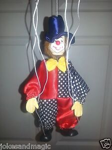 Vintage Marionette Puppets Mexico Mexican Payaso Hat String Clown Pink