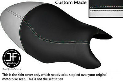 BLACK STITCH CUSTOM FITS CAGIVA RAPTOR PLANET 125 DUAL LEATHER SEAT COVER