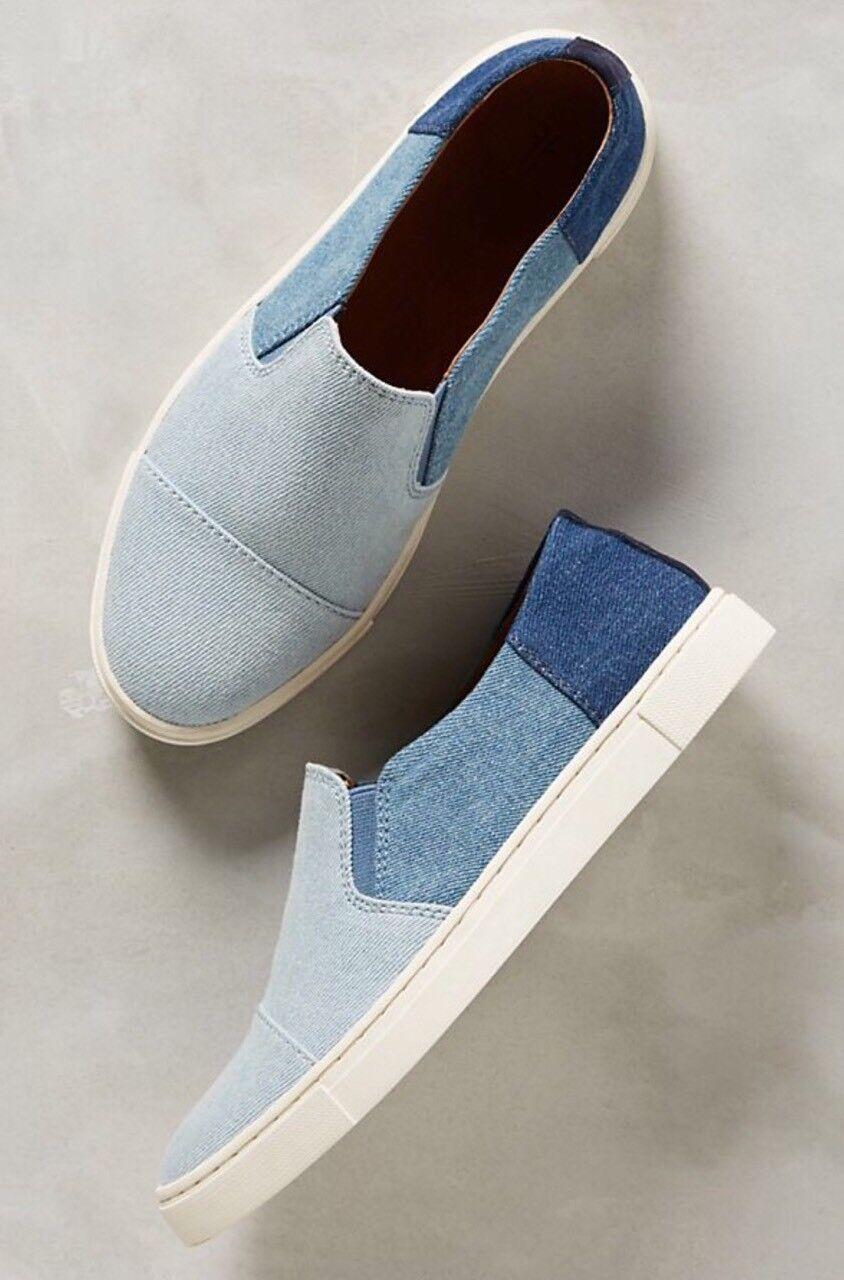 Nuevas botas de Frye-Azul Frye-Azul Frye-Azul Denim Patchwork zapatillas Talla 10  edición limitada