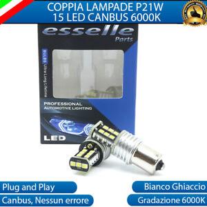 COPPIA LUCI RETROMARCIA 15 LED P21W BA15S CANBUS AUDI A2 NO ERROR 6000K