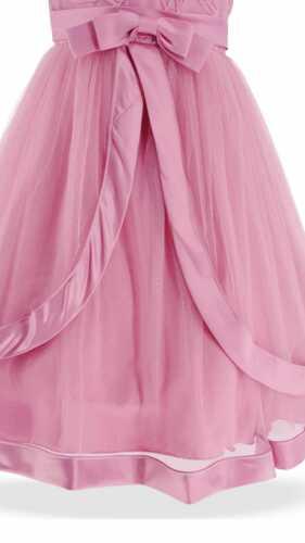 Filles Enfants Belle Rose couches robe de soirée de mariage Anniversaire Demoiselle d/'honneur 3-13