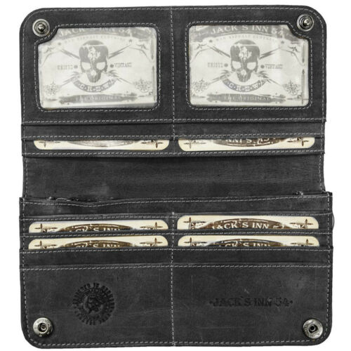 Jack/'s Inn 54 Cuir Portefeuille Porte-monnaie Portefeuille Black Bourbon Street