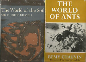 WORLD-OF-THE-SOIL-by-Russell-WORLD-OF-ANTS-by-Chauvin-BUGS-amp-BEETLES-3-BOOKS