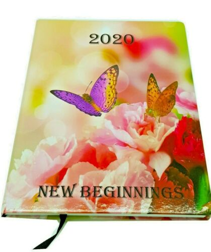 2020 A4 Week to View Desk Diary Hard Backed Diary Planner Gloss Cover NEW