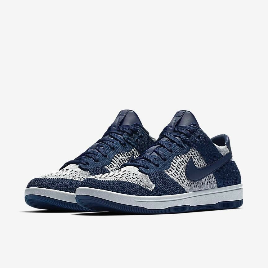 Nike Dunk Low Flyknit College Navy Wolf Grey Uk Size 7 Eur 41 917746-400
