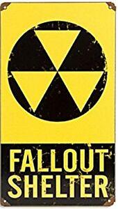 Fallout-Shelter-arrugginiti-ACCIAIO-INSEGNA-460mm-x-300mm-PST-1812