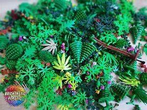 LEGO-75pcs-65g-Bulk-Foliage-Leaves-Trees-plants-bushes-amp-Ferns-Mix-packs