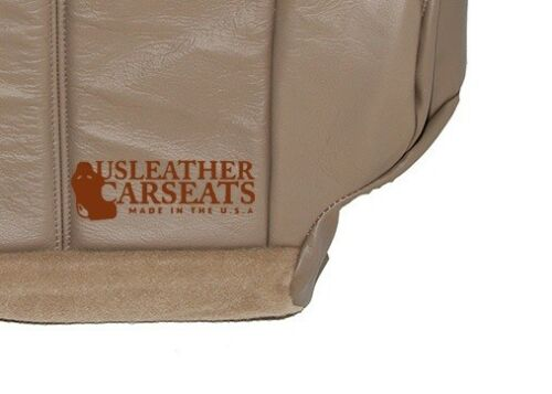 1999-2002 GMC Sierra Yukon Tahoe Driver Bottom Synthetic Leather Seat Cover Tan