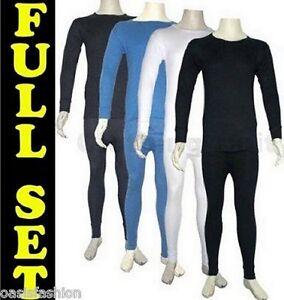 Ropa-interior-termica-hombre-malla-larga-camiseta-manga-larga-conjunto-S-XXL