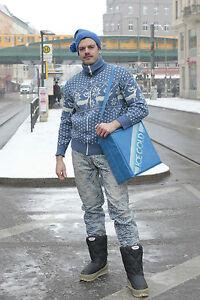 in True anni Cardigan '70 norvegese '70 Vintage da uomo stile anni maglia 87RpHA