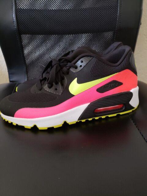 New Nike Air Max 90 FB GS 845111 002 WhiteBlackPink Shoes Size 6Y 7.5W