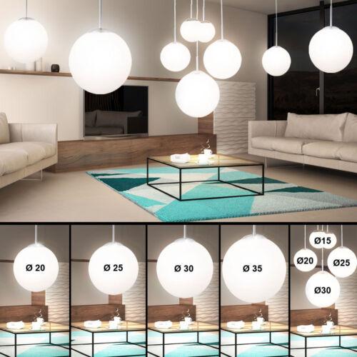 LED Decken Hänge Kugel Lampen Wohn Ess Zimmer Glas Pendel Beleuchtung satiniert