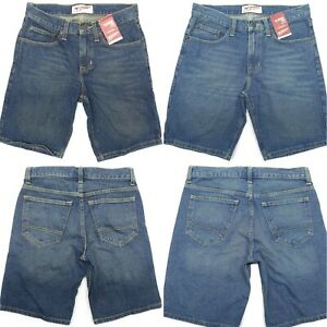Arizona-Men-Jeans-Shorts-Classic-Fit-Hits-at-Knee-Dark-or-Light-Stone
