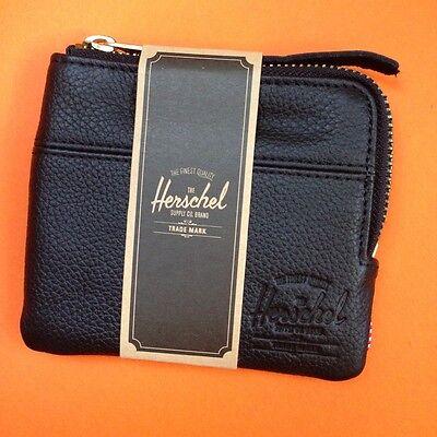 Herschel Supply Co Johnny leather wallet card holder BLACK/TAN/NUBUCK