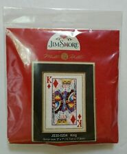 Jim Shore King of Diamonds Cross Stitch Kit Poker Card Mill Hill Beads Playing
