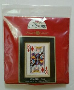 Beadshine-Jim-Shore-King-Of-Diamonds-Cross-Stitch-Kit-Poker-Card-Mill-Hill-Beads