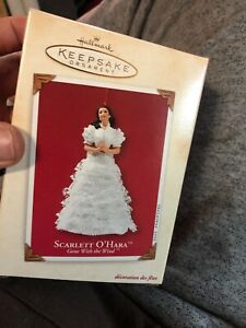 2002-SCARLETT-O-039-HARA-NEW-VSD-Box-Hallmark-Gone-With-the-Wind-Ornament-Tara-Dress