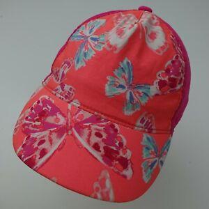 GymGo Pink Butterfly Girls Ball Cap Hat Adjustable Baseball