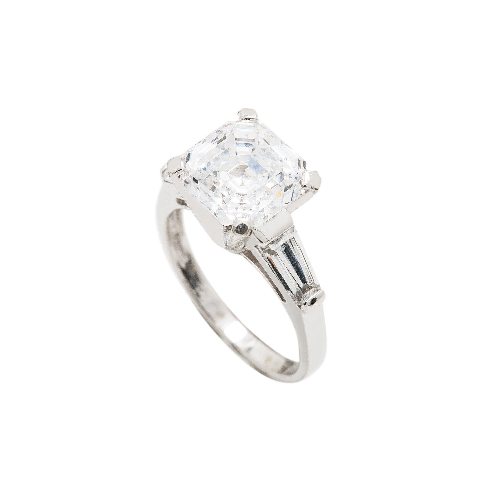601a83b00019d Zirconium Cubic gold White 14K Ring Setting Engagement 4.5 Size ...