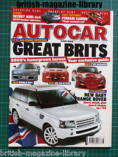 Autocar 30/11/2004 Road Test: Morgan Roadster - TVR Sagaris - Range Rover Sport