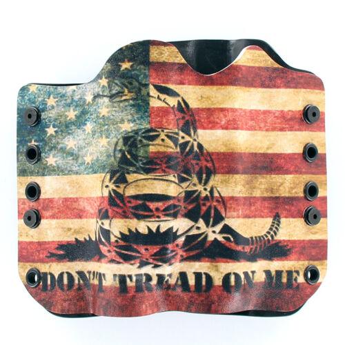 DON/'T TREAD SNAKE FLAG OWB Kydex Holster for Hanguns w// OLIGHT PL-1 II VALKYRIE