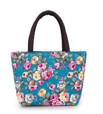 New Women Canvas Shoulder Bag Printing Tote Satchel Hobo Handbag Lunch bag-GREEN