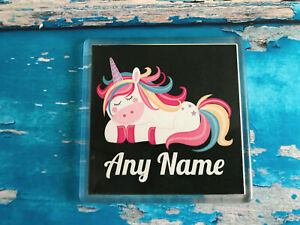 Personalised-Sleeping-Unicorn-Coaster-Add-any-name-or-text-Great-Gift