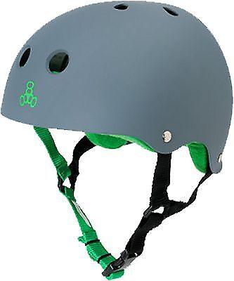 Triple 8 Helmet Carbon Rubber Green S