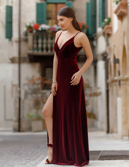 3789a2668ce6 Ever-Pretty Formal Long Evening Ball Party Bridesmaid Velvet Dresses ...