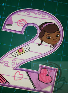 DISNEY DOC MCSTUFFINS CHARACTER  EMBROIDERED APPLIQUÉ PATCH SEW OR IRON #389