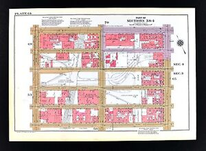 Hells Kitchen New York Map.1955 Bromley New York City Map Hell S Kitchen Lincoln Tunnel 9th