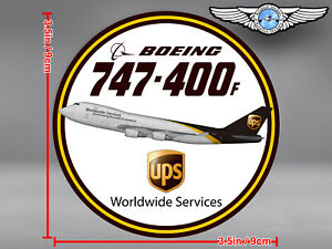 UPS BOEING 747 B747 400F 400 F ROUND DECAL / STICKER