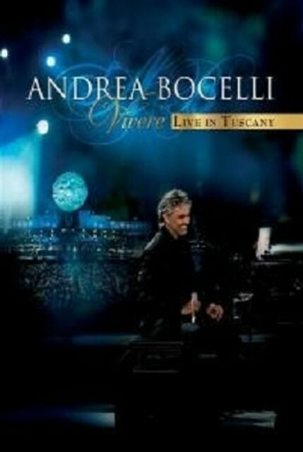 "ANDREA BOCELLI ""VIVERE LIVE IN TUSCANY"" DVD+CD NEW"