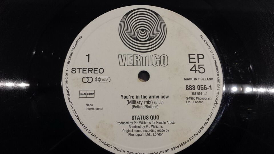 LP, Status Quo, In The Army Now
