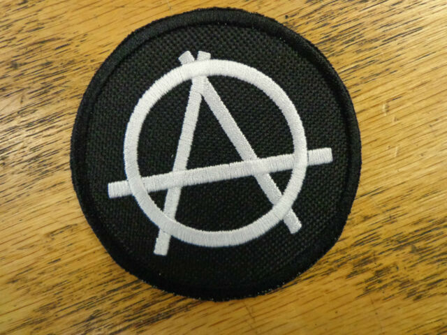 Anarchy Round Vest Patch Biker Outlaw Biker Vest Motorcycle Biker Club Patch MC